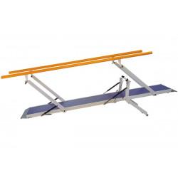 Gehbarren mit Steigung für Sport und Reha, 300 cm, aus Metall